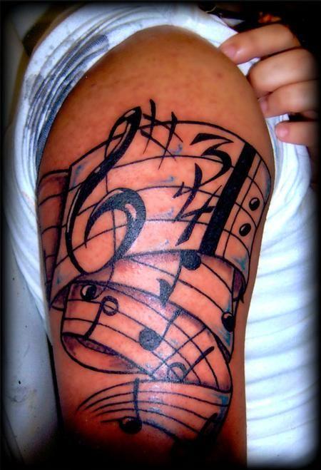 25+ best ideas about Music staff tattoo on Pinterest ... - photo#50