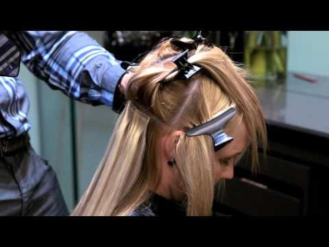 How To Apply Tape In Hair Extensions, Seamless and professional Tutorial /www.HairExtensionSale.com - YouTube