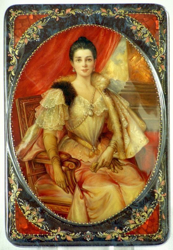 Victorian Jewel Box.Portrait is of Princess Yusupova of Russia.