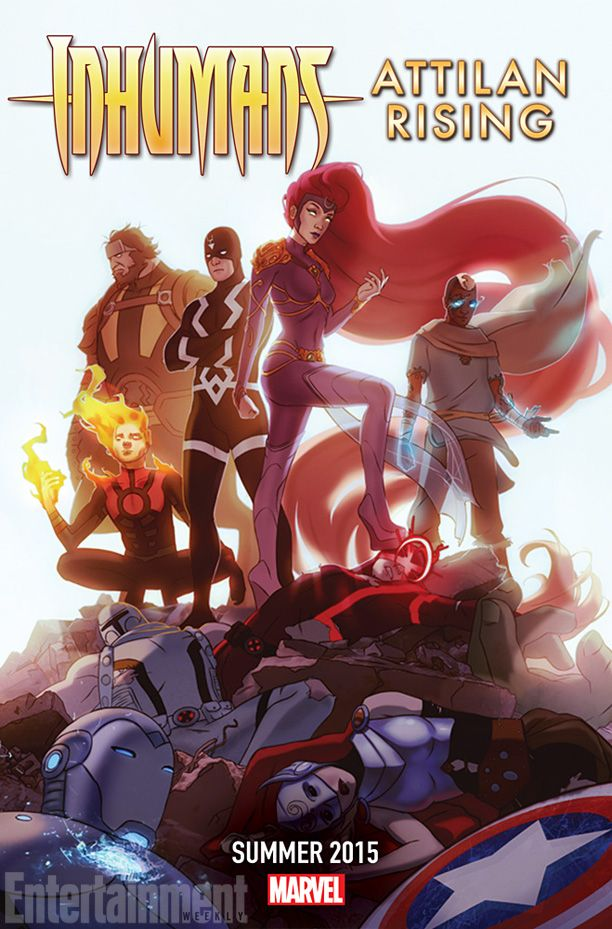 The comic book publisher has been releasing a steady trickle of cryptic teasers alluding to previous stories, all hinting at a Summer 2015 date: http://popwatch.ew.com/2014/10/23/inhumans-attilan-rising-is-marvels-latest-mystery-teaser/ #marvel #summer