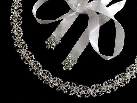 Crystal Bridal Tiara bruiloft hoofdband Flower Crown door YJDesign