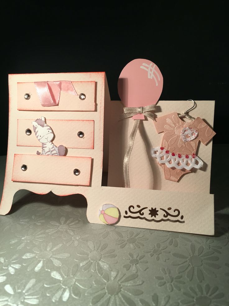 Kartka - narodziny dziecka baby girl