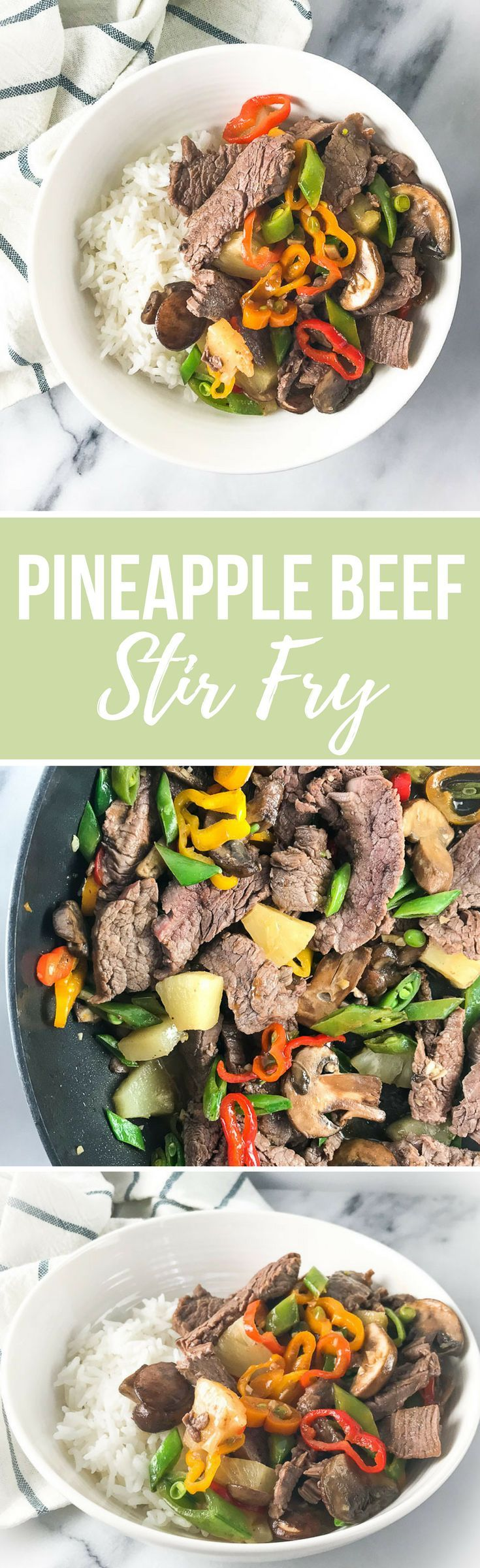Understanding Beef Labeling + Pineapple Beef Stir Fry Recipe via RDelicious Kitchen @RD_Kitchen #sponsored by The Beef Checkoff #beef #stirfry #dinner #nutrition