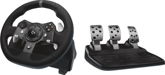 Logitech G920 Driving Force Racing Wheel For Xbox One And Windows Black 941 000121 Best Buy Logitech Xbox One Pc Xbox One
