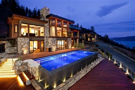 Waterfront home in Canada. Situated on 2.55 acres of land with 7400sq. ft. of living space.