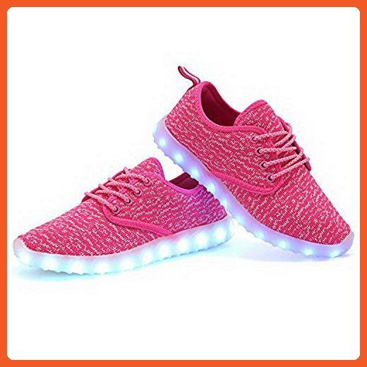 Suniuye Women's LED Shoes 7-Color-Lights USB Charging Light up Sneakers(8 B(M)US,Pink) - Sneakers for women (*Amazon Partner-Link)