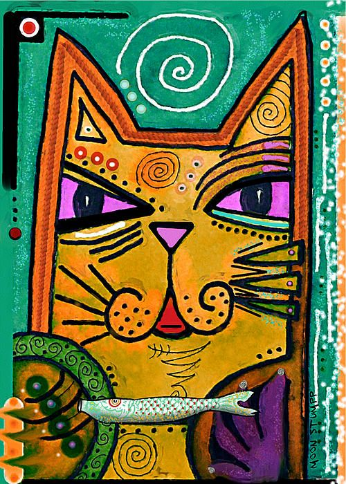 House Of Cats Series - Fish. Artist: Moon Stumpp