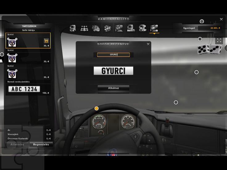 Ez a sorozat képernyőmentés a Trélerek különféle fajtáit mutatja be: sofőrtábla