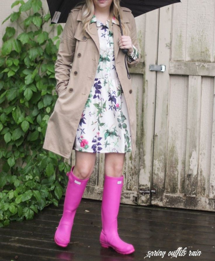 Perfect Short Rain Boots Cute Outfit For Rainy Days Perfect