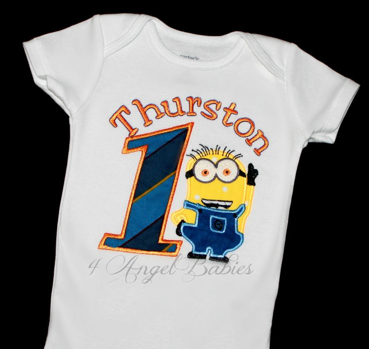 DESPICABLE ME MINION Inspired Personalized Birthday Top, Shirt or Onesie for Boys or Girls Party Choose colors, number, name and fabrics of choice!