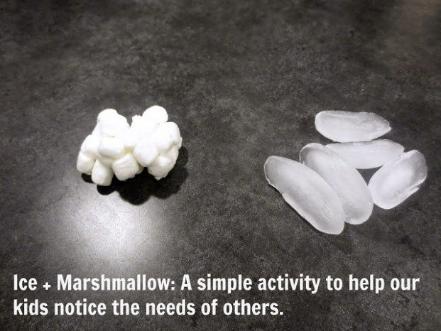 needs of others marshmallow and ice | Object lessons | Bible object