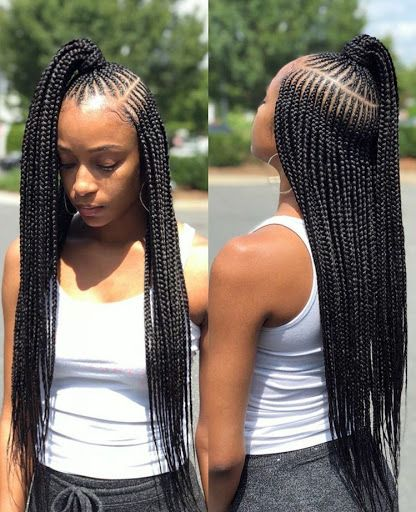 Nigerian Fashion Braids  Micro Braids Hairstyles, Hair