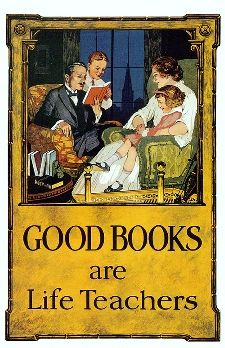 Good Books Are Life Teachers art print from Library of Congress --- 8x10 $28