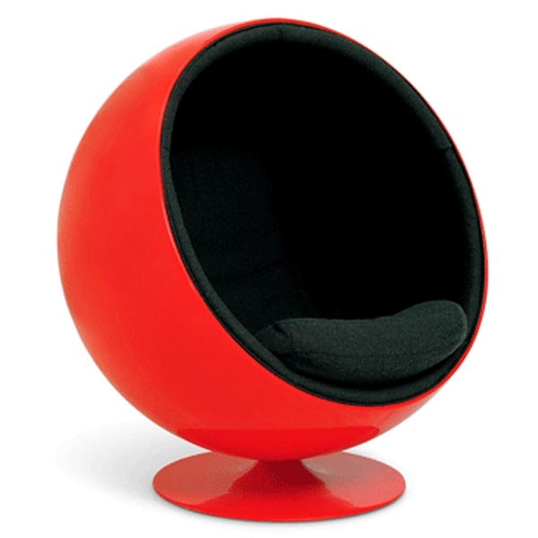 Ball Chair With Leather Interior
