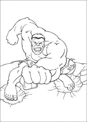 hulk coloring page 18