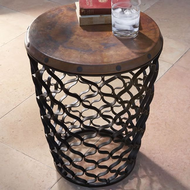 Small Arabesque Table With Antique Copper Top