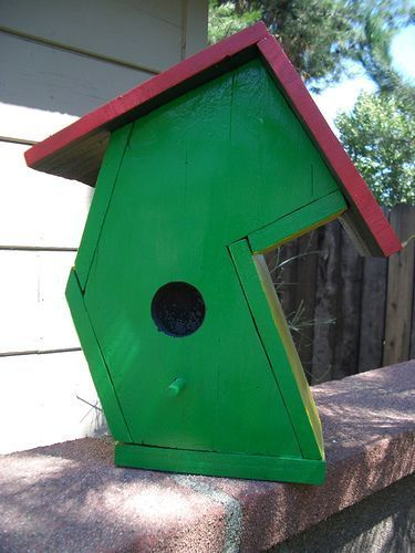 big ben large crooked bird house made from pine board and rh pinterest com