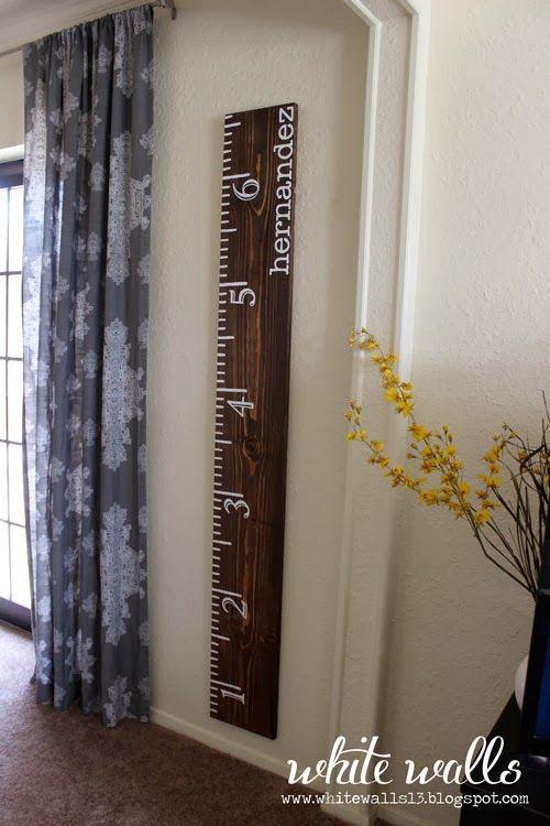 White Walls blog! A blog for base housing :) Life-size ruler DIY!