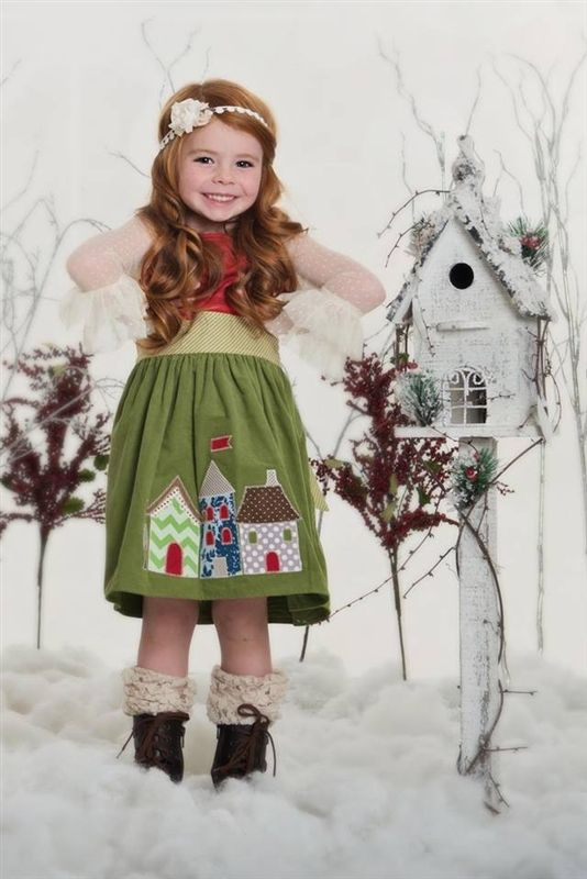Persnickety Clothing - Ginger Dress in Gray Holiday