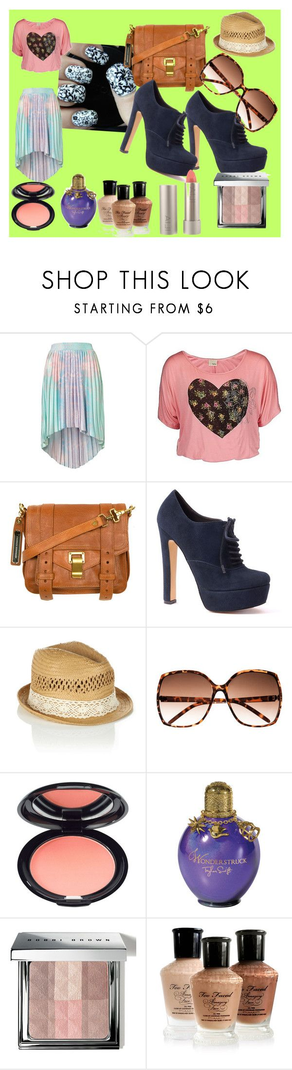 """""""BUBLE GUM"""" by skinnyfuschia ❤ liked on Polyvore featuring Daytrip, Proenza Schouler, Damsel in a Dress, Oasis, H&M, Stila, Bobbi Brown Cosmetics and Ilia"""
