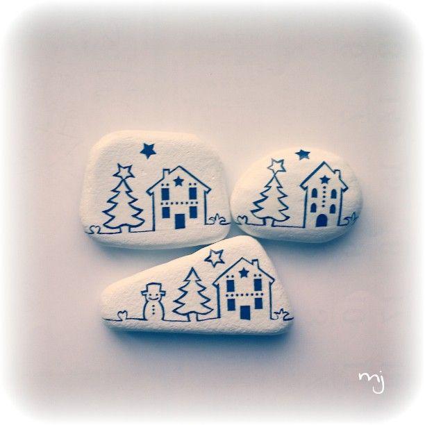 White with blue...very Christmas-ē lol