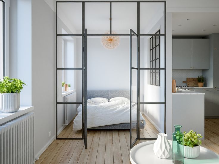 3 modern studio apartments with glass walled bedrooms