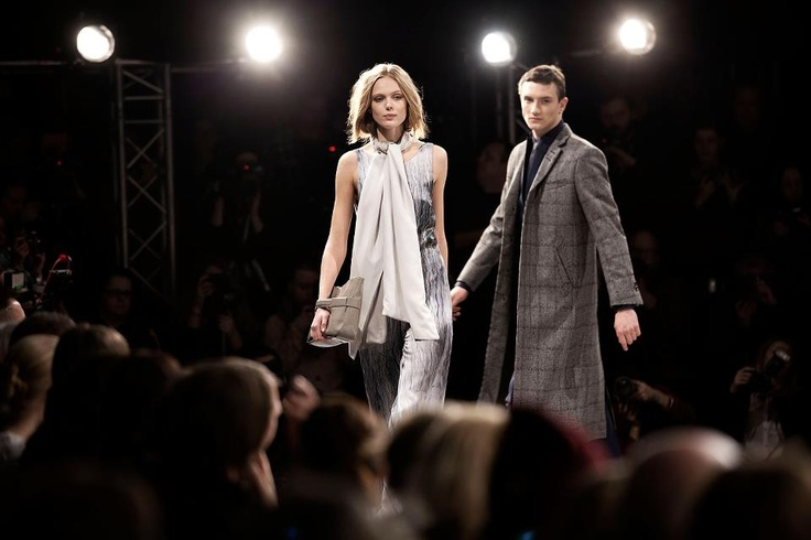 Frida Gustavsson and Jacob Coupe.   Behind the Scenes of Fashion show AW 2012