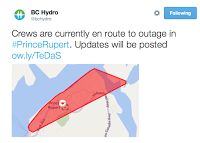 October 9 -- East side power outage lasts one hour as winds pick up