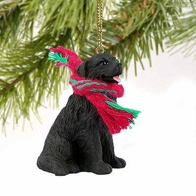 1 X Newfoundland Miniature Dog Ornament