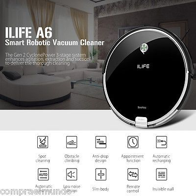 ﹩209.99. ILIFE A6 Smart Robotic Vacuum Cleaner Auto Recharge Cordless Sweeper Cleaning US    Type - Robotic,