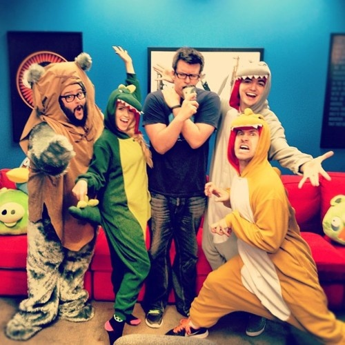 Steve Zaragoza, (Lee Newton),Philip DeFranco, Elliot Morgon, & Joe Bereta- SourceFed