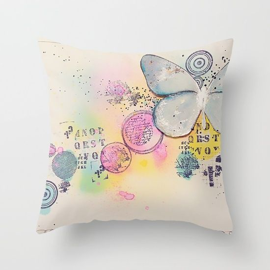 Buy Butterfly in the bubbles Throw Pillow by nicolettazanella. Worldwide shipping available at Society6.com. Just one of millions of high quality products available.