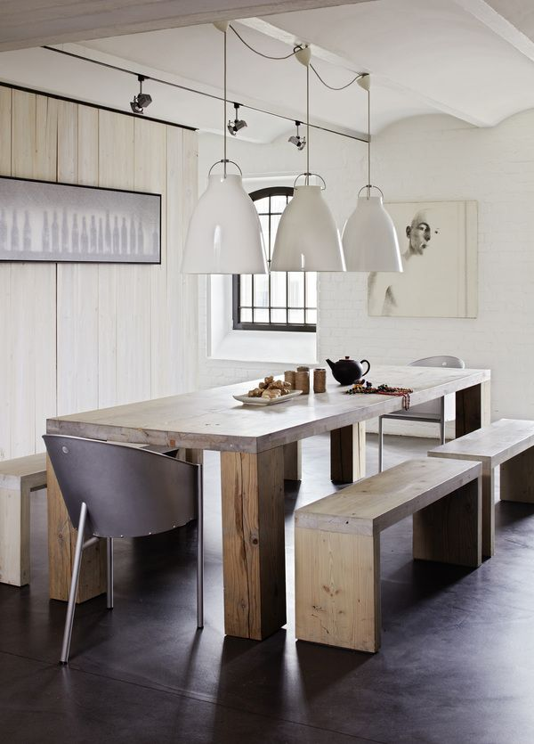 Design rustic dining room with benches | Interior Stylist Annabell Kutucu