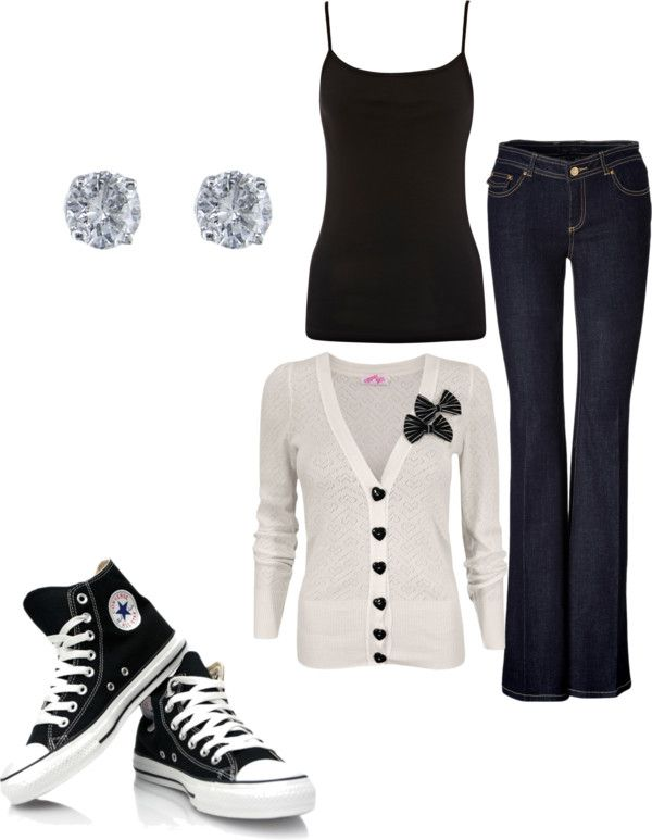 Love, but I'd wear skinny jeans instead of flared.