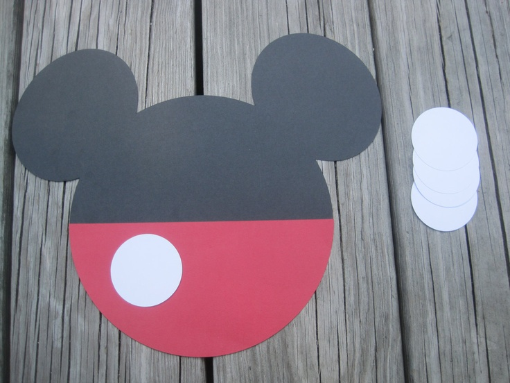 Mickey Mouse Party Game-- Pin the button on Mickey