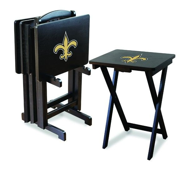New Orleans Saints Team Logo TV TraysTailgate Tables