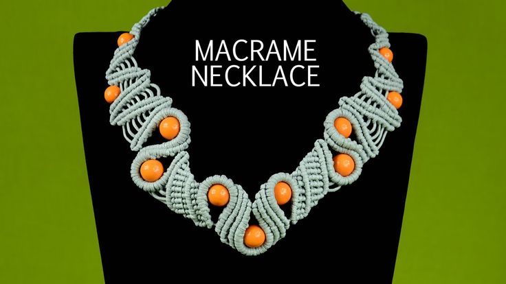 How to make a wavy macramé snake necklace with beads. This necklace looks very interesting and not hard to make, perfect to wear everyday and for any occasio...