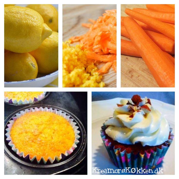 Gulerod/ Citron Cupcake med Honning/ Skyr Frosting
