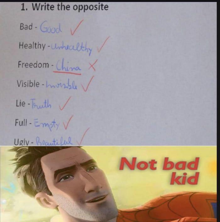 Not Bad Kid Bad Kids Funny Facts Single Memes