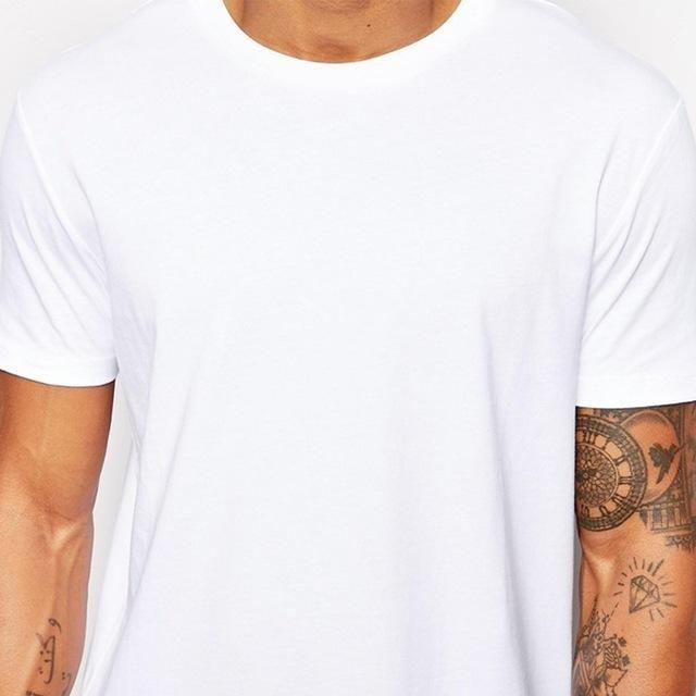 2017 Brand New Clothing Mens Black Long t shirt Men Tops Hip hop tee T-shirt Men Hiphop Short Sleeve Longline casual Tee shirts