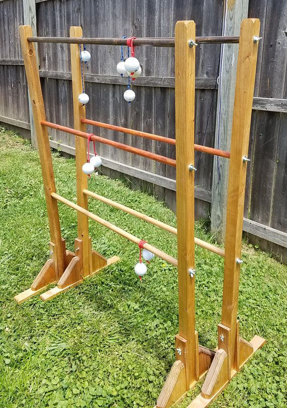 Ladder Ball All Handmade Wood