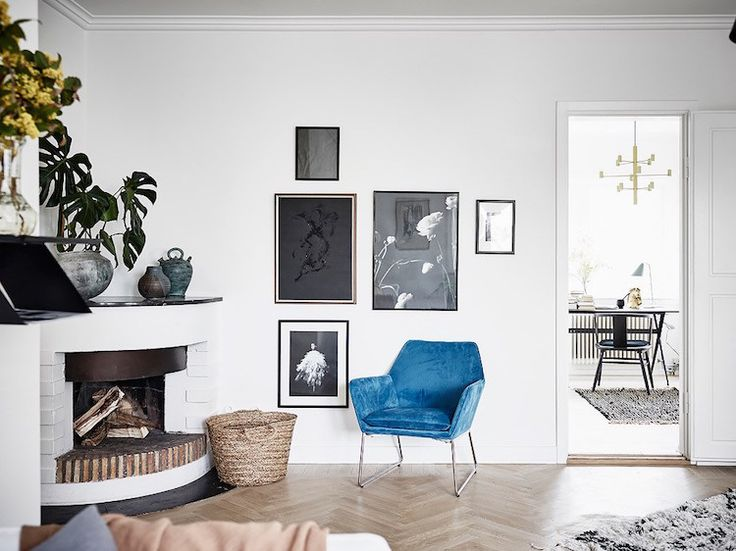 my scandinavian home: A Swedish home with blue and mustard accents