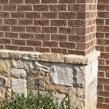 91 best images about brick and stone exterior on pinterest for Brick homes with stone accents