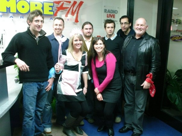 Myself (centre-back) with MoreFM colleagues