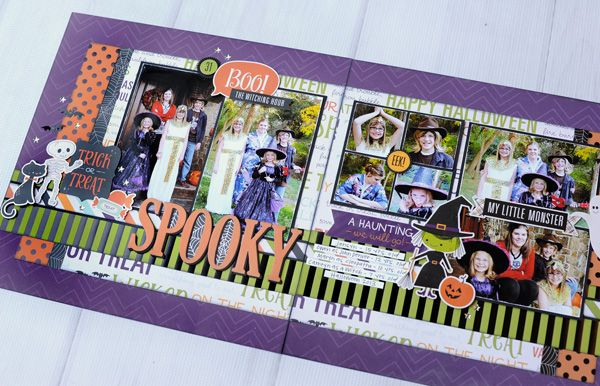 Jana Eubank Echo Park Paper Halloween Town Spooky Two Page Layout 9 600