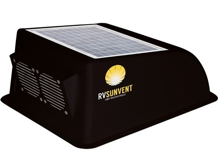 The RVSunVent  black cover not only keeps rain out while your RV's vent is open, but the solar-powered fans help boost ventilation in your RV to remove moisture along with hot and stagnant air.