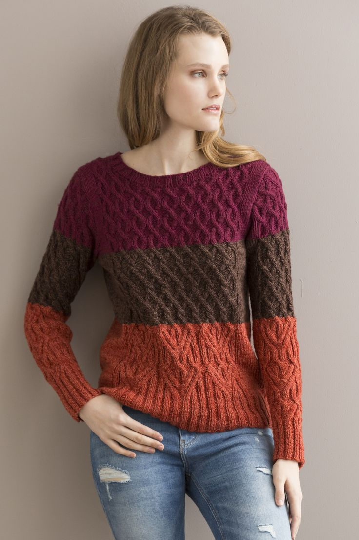 23 best pattern collection lifeyle fallwinter 2015 images on joie de vivre pullover in tucson colorblocking and cables are a perfect combination in this pullover sweatersknitting bankloansurffo Choice Image