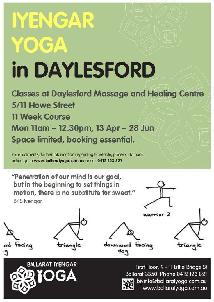 The BIY Daylesford Monday class has moved. Now at the Daylesford Massage and Healing Centre.