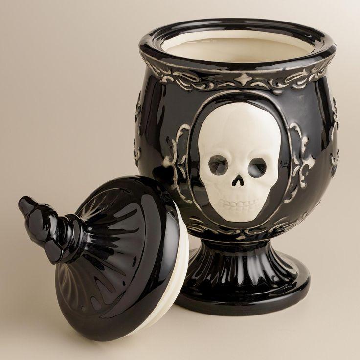Black Skull Apothecary Treat Jar