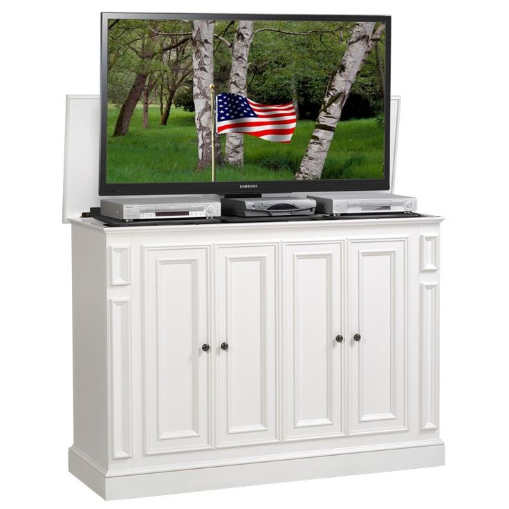 harbor white tv lift cabinet foot of the bed lifts